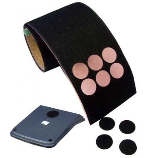 Super Strong Adhesive Backed Velcro Hook Side Dots 100 dots per roll
